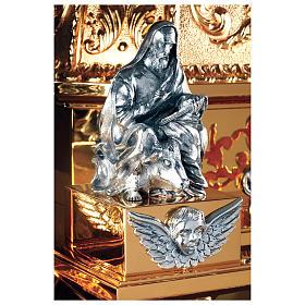 Tabernacolo Molina stile Barocco Quattro Evangelisti ottone dorato 127x76x63,5 cm s2