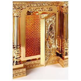 Tabernacolo Molina stile Barocco Quattro Evangelisti ottone dorato 127x76x63,5 cm s3