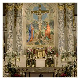 Tabernacolo Molina stile Barocco Quattro Evangelisti ottone dorato 127x76x63,5 cm s4