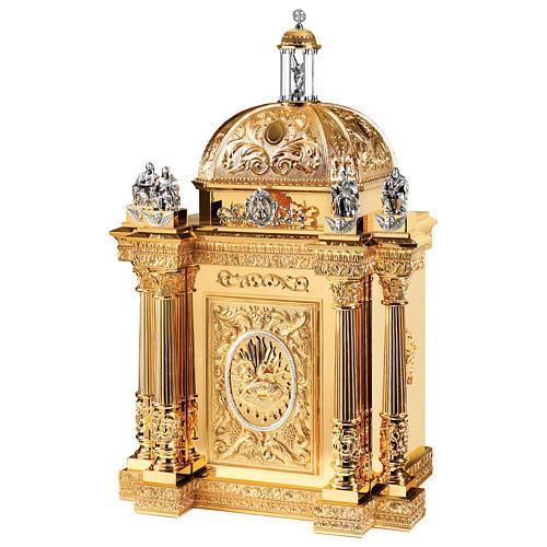 Tabernacolo Molina stile Barocco Quattro Evangelisti ottone dorato 127x76x63,5 cm 1
