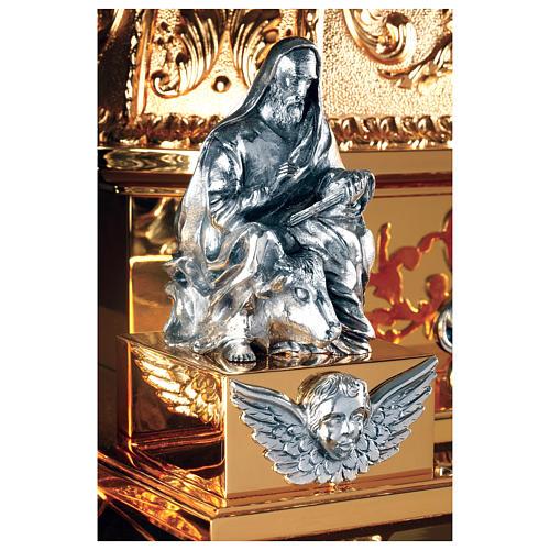 Tabernacolo Molina stile Barocco Quattro Evangelisti ottone dorato 127x76x63,5 cm 2