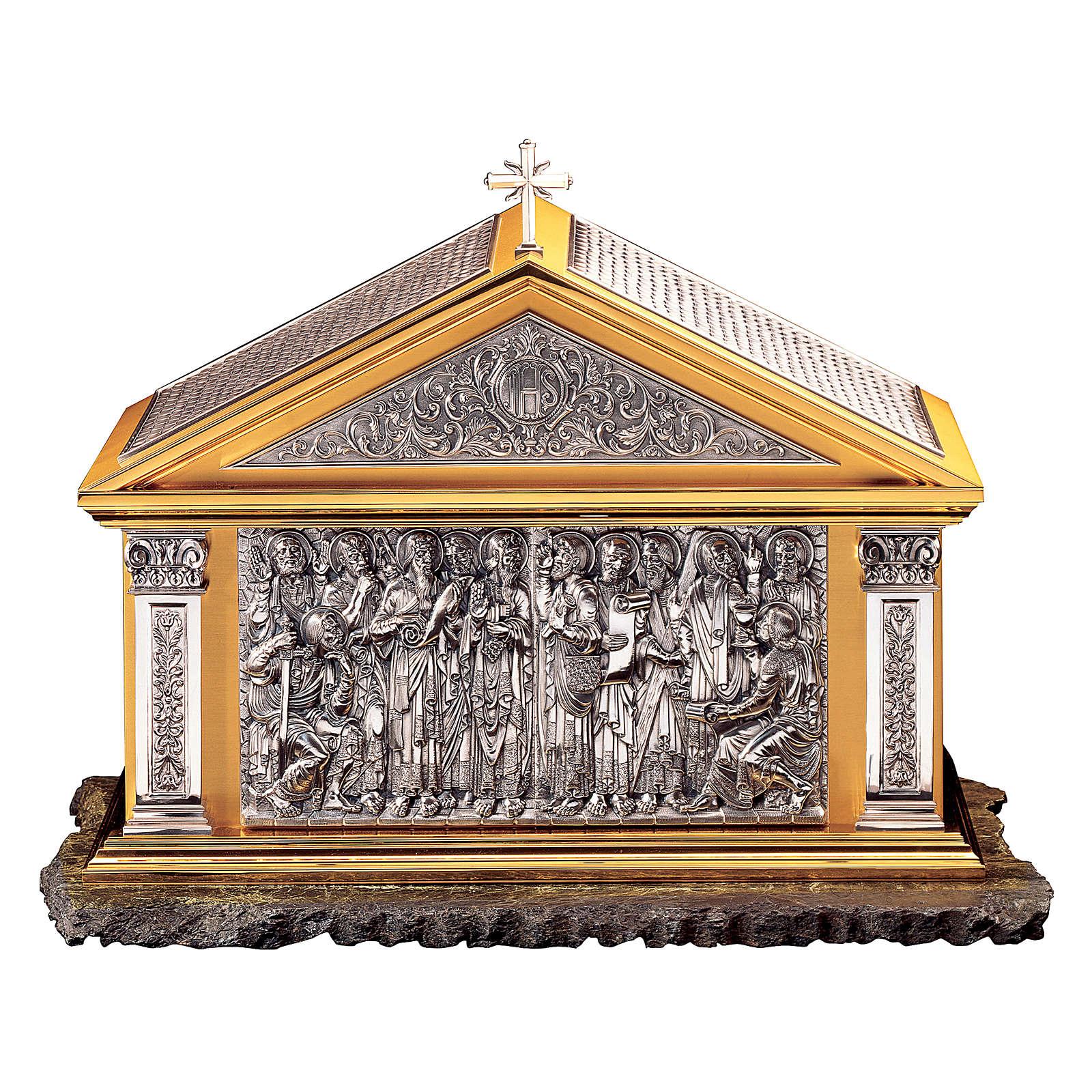 Tabernacolo Molina Stile Classico Dodici Apostoli ottone bicolore 60x72,4x40 cm 4