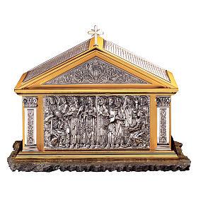 Tabernacolo Molina Stile Classico Dodici Apostoli ottone bicolore 60x72,4x40 cm s1