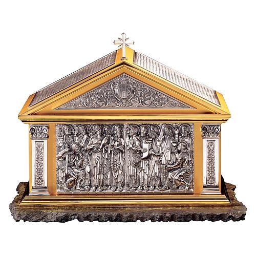 Tabernacolo Molina Stile Classico Dodici Apostoli ottone bicolore 60x72,4x40 cm 1