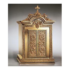 Tabernacolo Molina Resurrezione e Ascensione ottone dorato 86,5x53x54 cm s1
