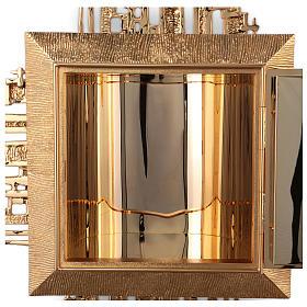 Tabernacolo parete ottone fuso bagno oro 24 k Evangelisti  s4