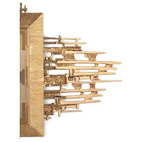 Tabernacolo parete ottone fuso bagno oro 24 k Evangelisti  s7