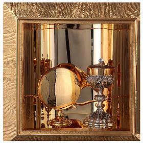 Tabernacolo parete ottone fuso bagno oro 24 k Evangelisti  s10