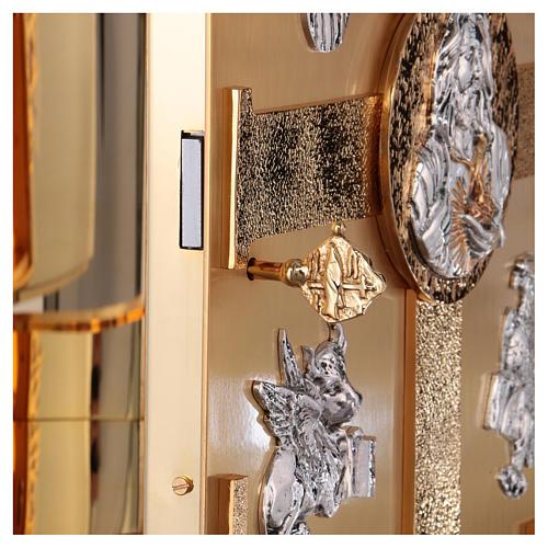 Tabernacolo parete ottone fuso bagno oro 24 k Evangelisti  5