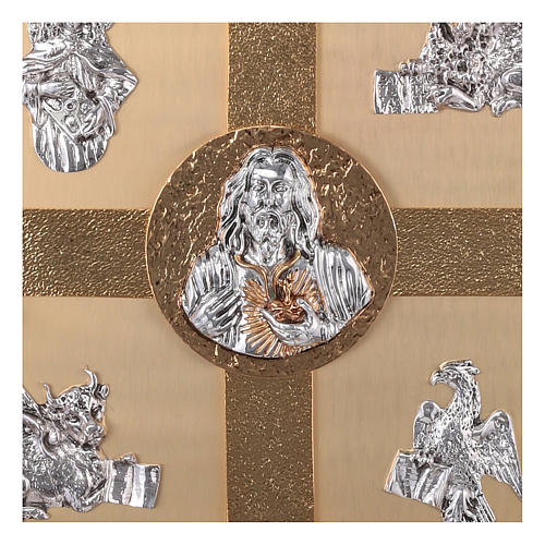 Tabernacolo parete ottone fuso bagno oro 24 k Evangelisti  9