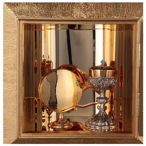 Tabernacolo parete ottone fuso bagno oro 24 k Evangelisti  10
