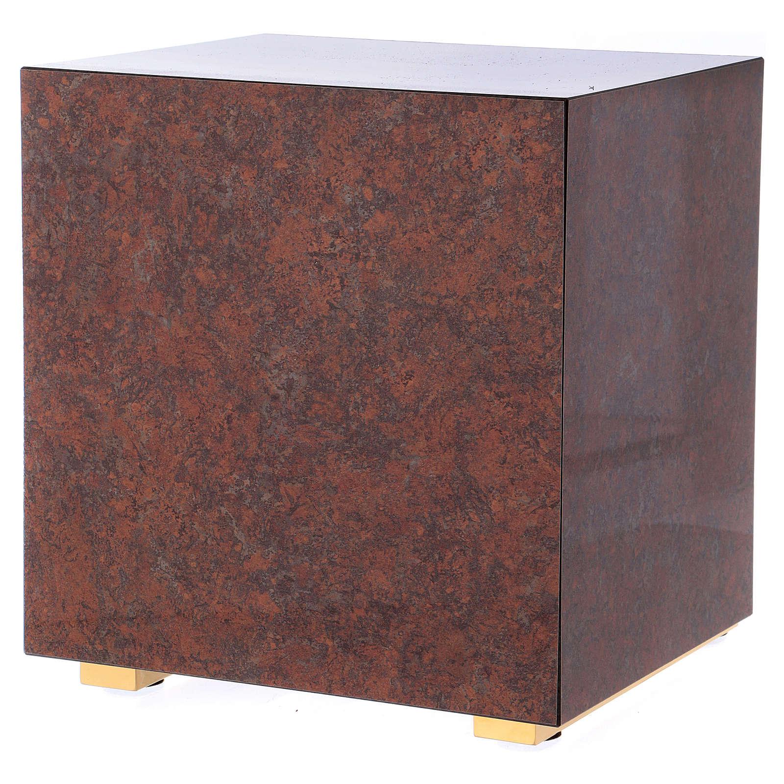 Tabernacolo Ultima Cena legno effetto marmo rosso 4