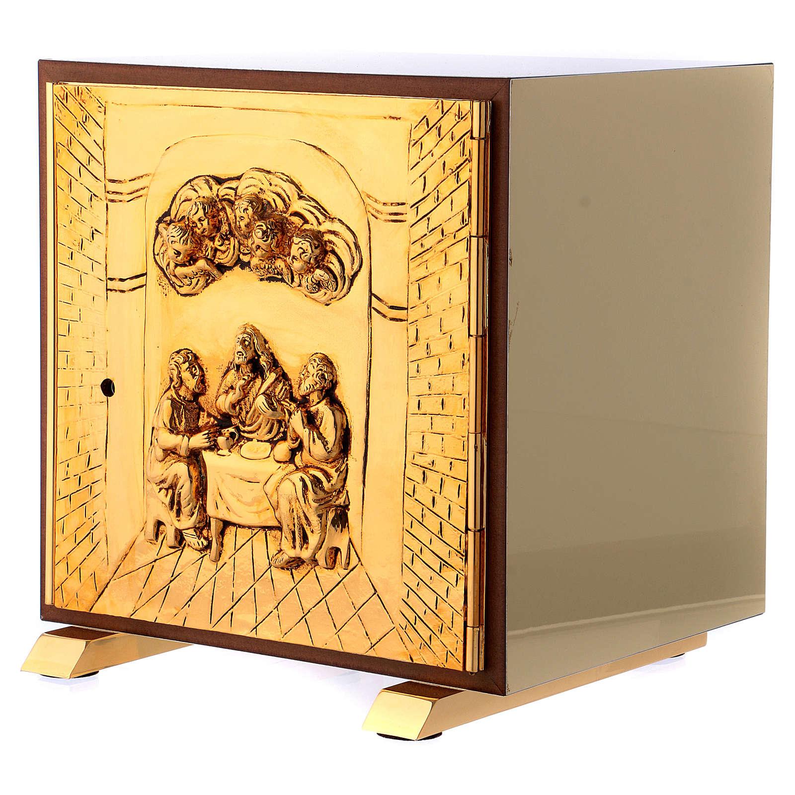 Tabernacolo Ultima Cena legno scocca oro 4