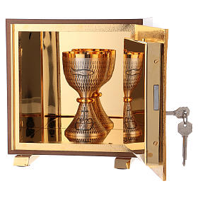 Tabernacolo Ultima Cena legno scocca oro s5