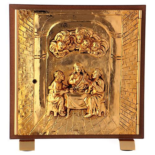 Tabernacolo Ultima Cena legno scocca oro 1