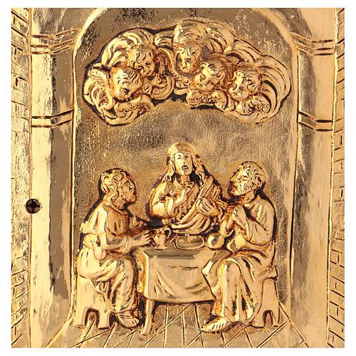 Tabernacolo Ultima Cena legno scocca oro 2