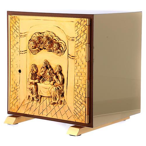 Tabernacolo Ultima Cena legno scocca oro 3