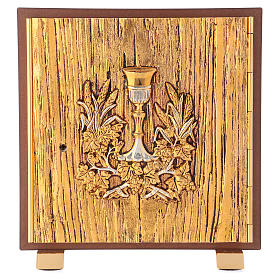 Tabernacle Calice bois finition ronce d'orme s1
