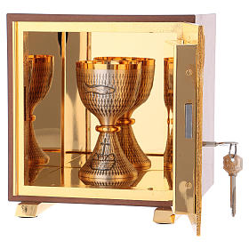 Tabernacle Calice bois finition ronce d'orme s5