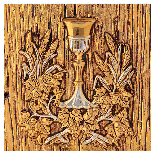 Tabernacle Calice bois finition ronce d'orme 2
