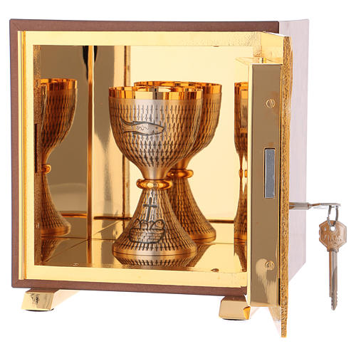Tabernacle Calice bois finition ronce d'orme 5