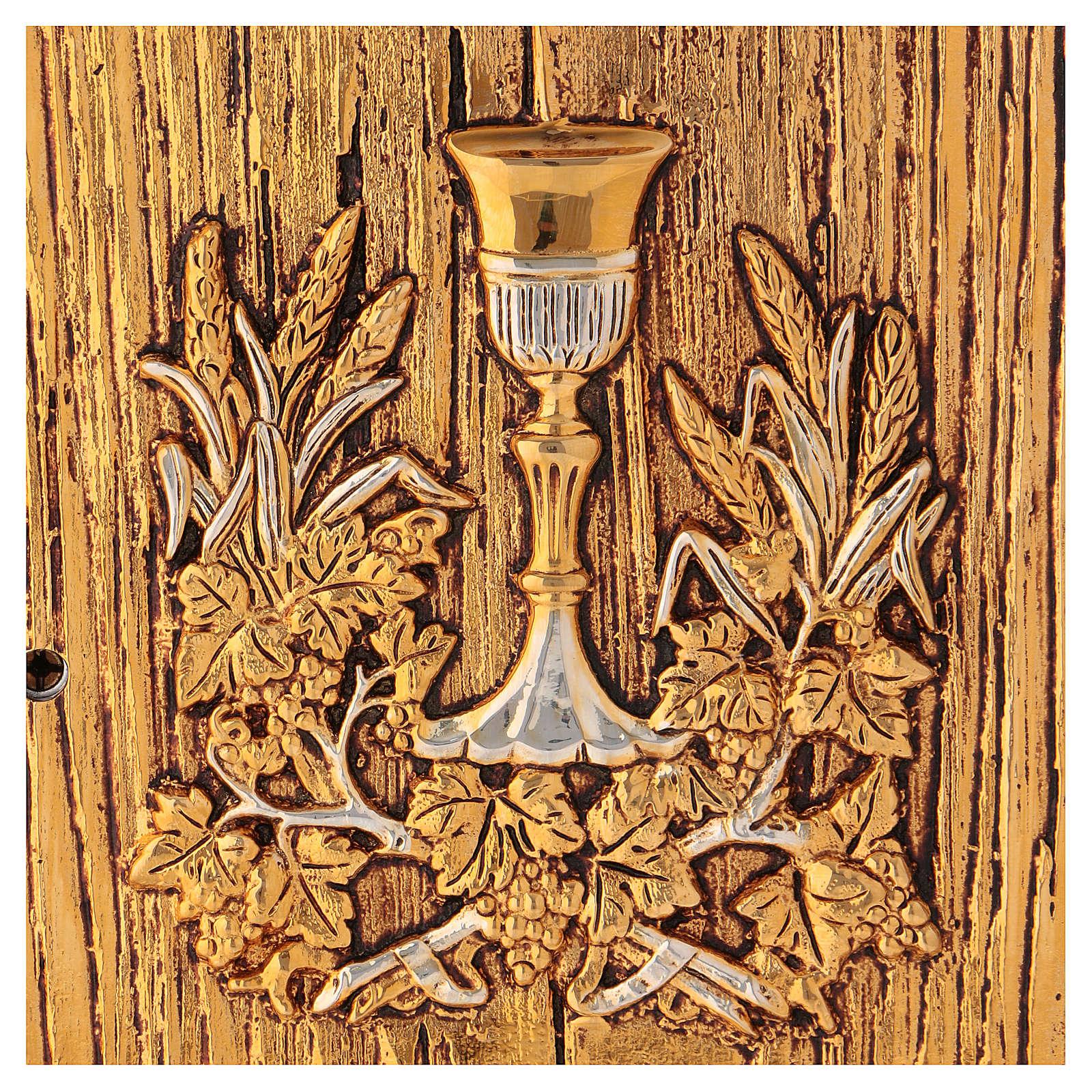Tabernacolo Calice legno finitura radica di olmo 4