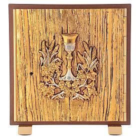Tabernacolo Calice legno finitura radica di olmo s1