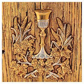 Tabernacolo Calice legno finitura radica di olmo s2