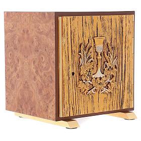 Tabernacolo Calice legno finitura radica di olmo s4