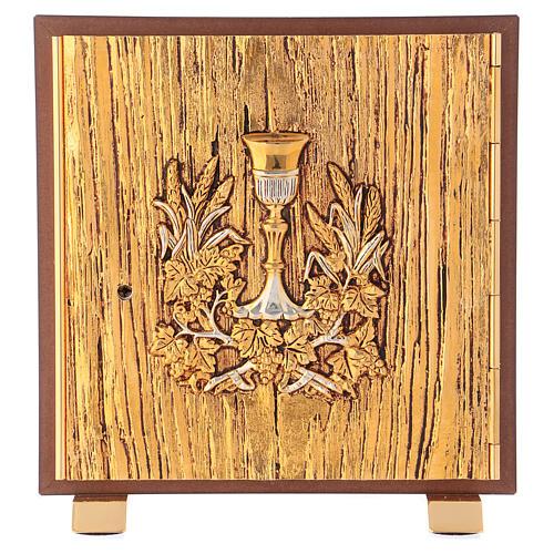 Tabernacolo Calice legno finitura radica di olmo 1