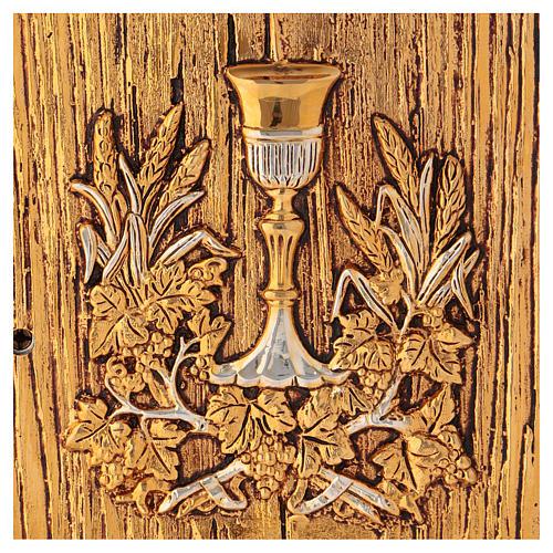 Tabernacolo Calice legno finitura radica di olmo 2