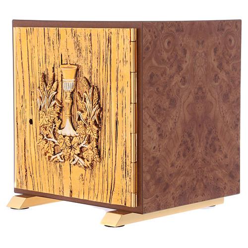 Tabernacolo Calice legno finitura radica di olmo 3