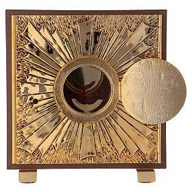 Tabernacolo esposizione IHS scocca oro s3