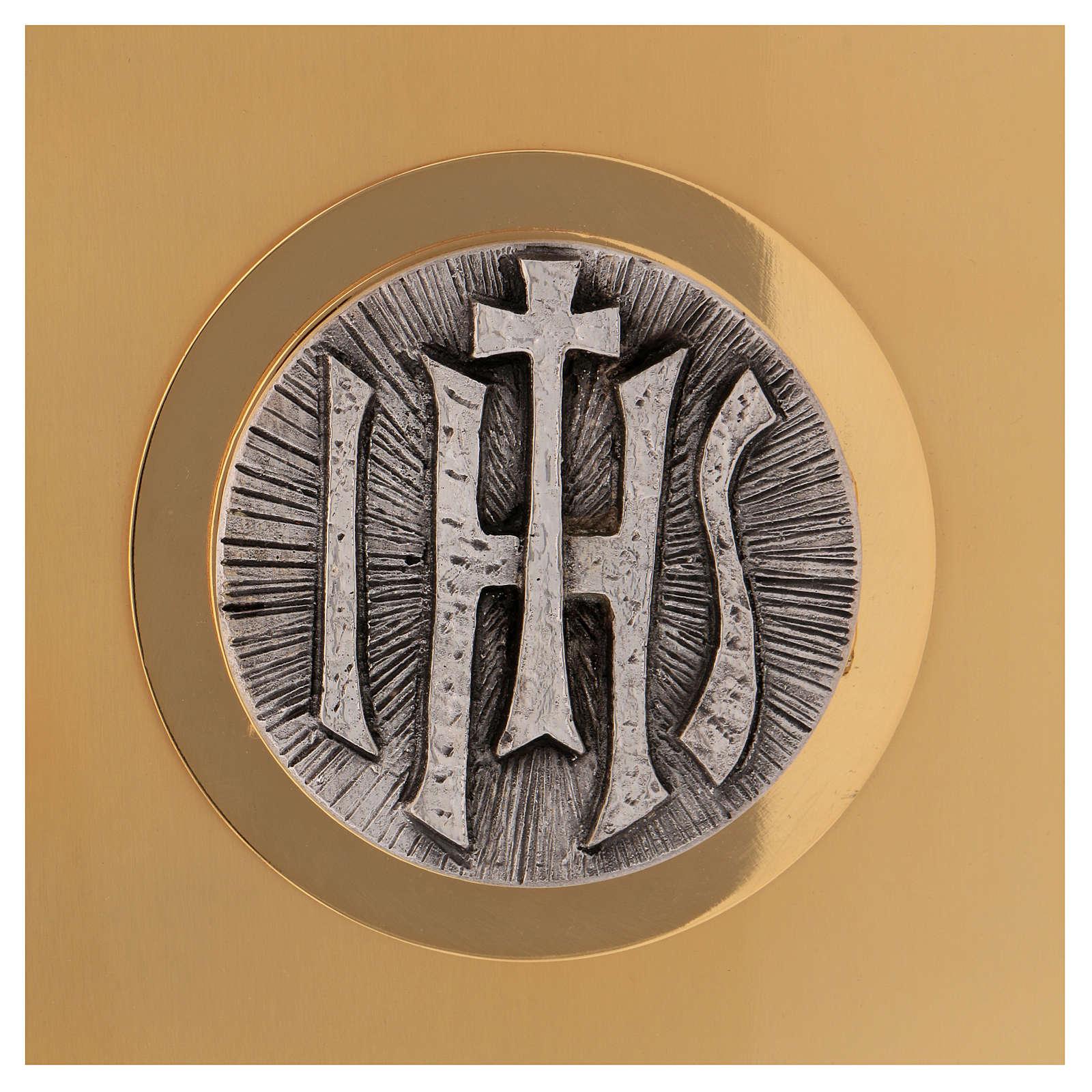Sagrario de misa de latón dorado IHS 4