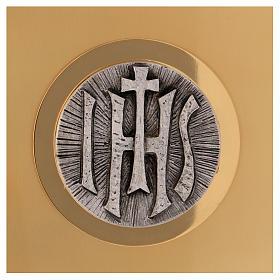 Sagrario de misa de latón dorado IHS s2