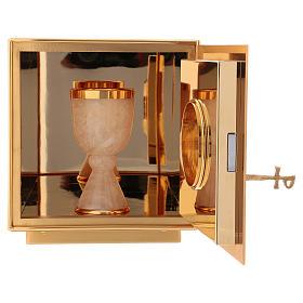 Sagrario de misa de latón dorado IHS s5