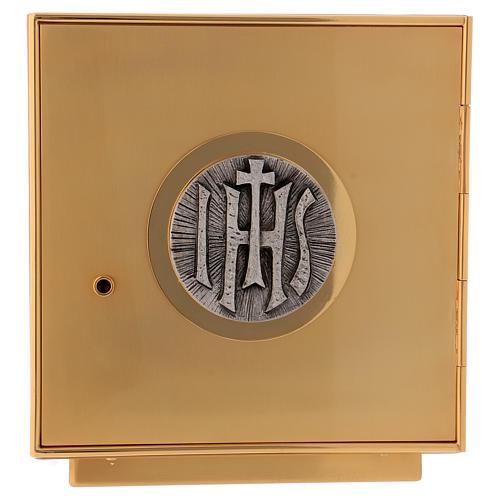 Sagrario de misa de latón dorado IHS 1