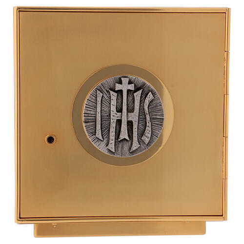 Altar tabernacle of gold plated brass IHS 1