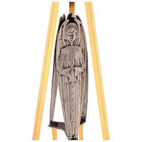 Columna para sagrario latón fundido con ángel h. 130 cm s2