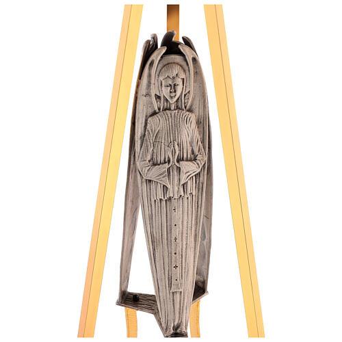 Columna para sagrario latón fundido con ángel h. 130 cm 2