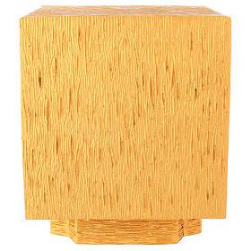 Tabernacolo da mensa in ottone fuso decorazione dorata IHS s9