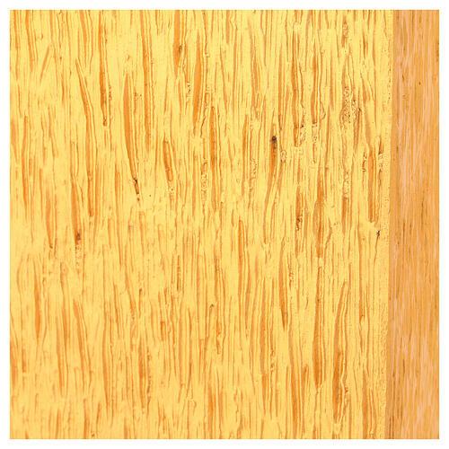 Tabernacolo da mensa in ottone fuso decorazione dorata IHS 8