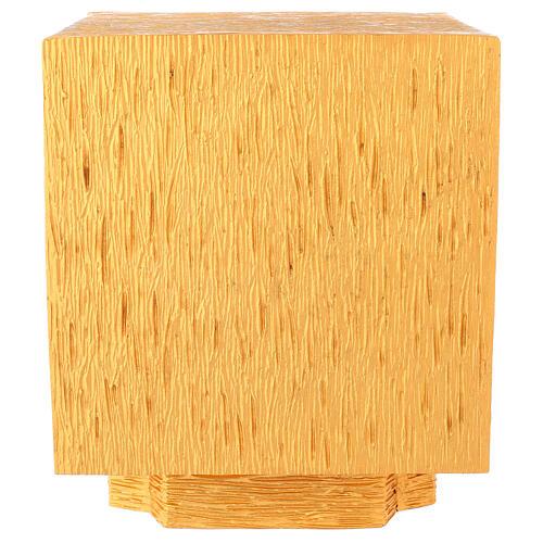 Tabernacolo da mensa in ottone fuso decorazione dorata IHS 9