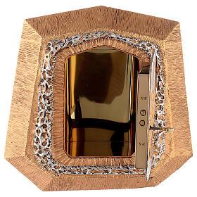 Sagrario de pared dorado con símbolos sacramentos s7