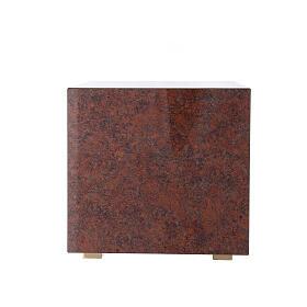 Tabernacolo mensa Sacro Cuore finitura marmo rosso ottone dorato s9