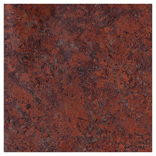 Tabernacolo mensa Sacro Cuore finitura marmo rosso ottone dorato 5