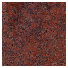 Sacrário de altar latão dourado Sagrado Coração acabado mármore vermelho s5