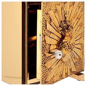 Sagrario eucaristía Sagrado Corazón placa dorada s4