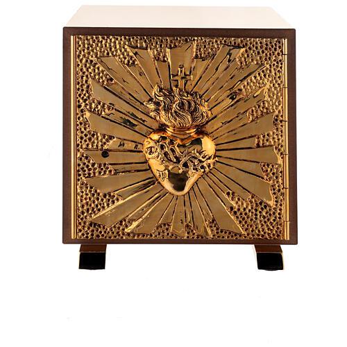 Sagrario eucaristía Sagrado Corazón placa dorada 1