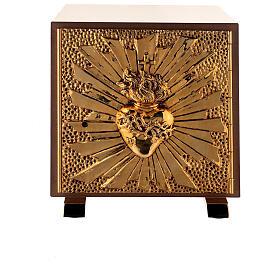 Tabernacle de table Sacré-Coeur coque dorée s1